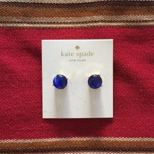 Kate spade earrings.  Authentic.  Color Indigo